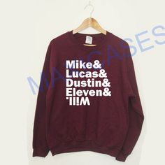 Mike And Lucas And Dustin And Eleven And Wil Sweatshirt Sweater Unisex Adults size S to 2XL