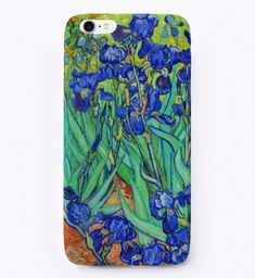Carry art with you, your iPhone will be more than happy! #iphone phone cases #Apple phone cases #iphone accessories Art Phone Cases, Iphone Cases, Iphone 11, Phone Covers, Floral Vintage, Vintage Art, Vincent Van Gogh, Bad Godesberg, Iris Painting