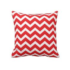Red Chevron PillowsSet of 2 by FloatingHearts on Etsy, $35.00