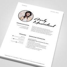 lebenslauf word vorlagen fr eine individuelle bewerbung cv templates - Sarah Connor Lebenslauf