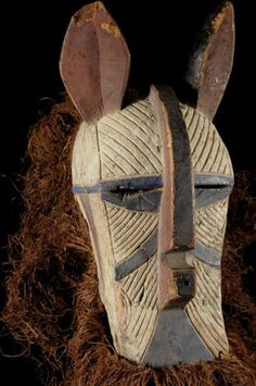 Luba animal mask with ears