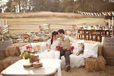 Wedding Rustic Theme #barn #hay  Like Us on Facebook!!!! www.facebook.com/... www.586eventgroup...