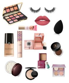 """""""glowing ✨"""" by secretxx on Polyvore featuring beauty, Too Faced Cosmetics, beautyblender, Giorgio Armani, tarte, Laura Mercier, MAC Cosmetics, Benefit and Anastasia Beverly Hills"""