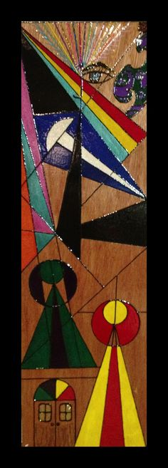 """This was done on wood. I called it """"The Journey """""""