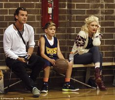 Gwen Stefani and ex Gavin Rossdale attend their son Kingston's basketball game