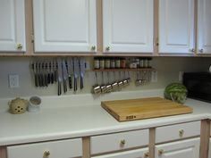 Kitchen - practical use for tiny spaces