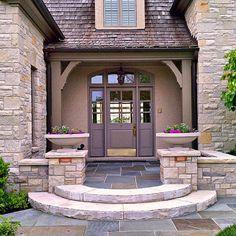 Columns by the front door