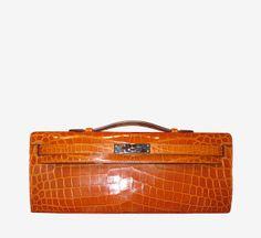 Hermès Orange Clutch