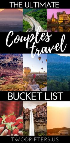 Romance, adventure, and #travel. We share a list of 101 exciting bucket list ideas for couples. Gather inspiration for your romantic bucket list, travel bucket list, and more. On your way to reaching your couples goals! #BucketList #Romance #Couple #Travel