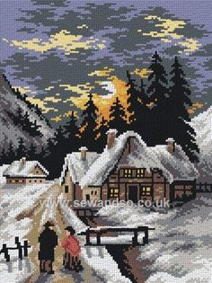 A Cold Evening's Walk Tapestry Canvas