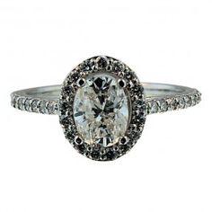 #ad This beautiful 1 ct oval shaped diamond is on sale now at 9thandelm.com! #engegment #diamond #ovaldiamond #wedding #9thandelm