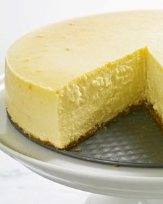 New York-Style Cheesecake -Stan LOVED this, but I didn't have enough cream cheese so I added 1 container of mascarpone cheese instead and did not add lemon.