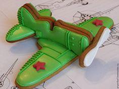 Купить или заказать 'Самолет' подарок мужчине на 23 февраля в интернет-магазине на Ярмарке Мастеров. Пряничный самолет И-16. Оригинальный, вк…