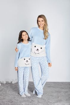 """Mommy and I I have matching jammies. Mom And Baby Outfits, Family Outfits, Boy Outfits, Fashion Outfits, Cute Pijamas, Pijamas Onesie, Kids Pajamas, Pajamas Women, Pyjamas"