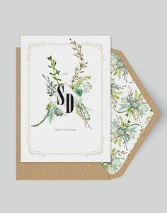 Wildflower - Greenery Wedding invitation