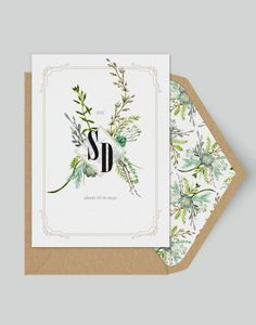 Wildflower - Greenery Wedding invitation