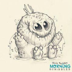 Puddle bath! #morningscribbles