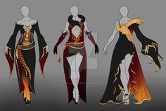 Fantasy Fire Set - AUCTION OPEN by Luca-Adopts on DeviantArt
