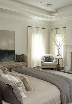 nice Gray Linen Bedding - Transitional - bedroom - Lillian August by - Home Decor Dream Bedroom, Home Bedroom, Master Bedroom, Bedroom Furniture, 1920s Bedroom, Taupe Bedroom, Peaceful Bedroom, Bedroom Ideas, Transitional Living Rooms