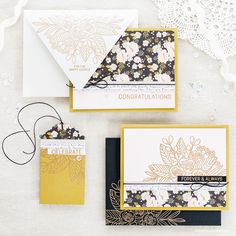 Wedding stationery suite by Debby Hughes using the Simon Says Stamp June Card Kit. Find out more about this wedding card, envelope and tag set by clicking on the following link http://limedoodledesign.com/2017/05/wedding-suite-simon-says-stamp-june-card-kit/