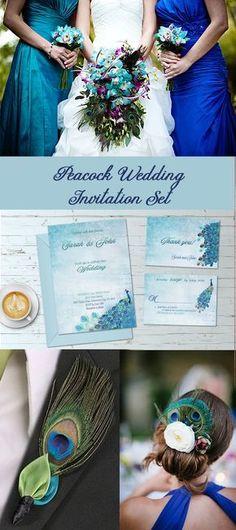 peacock wedding, wedding invitation, peacock theme