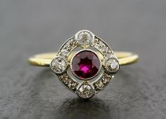 Antique Art Deco Ruby Ring  Art Deco Ruby & by AlistirWoodTait, £1,050.00