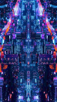 City Lights At Night Mobile Wallpaper (iPhone Android Samsung Pixel Xiaomi) Cyberpunk Aesthetic, Cyberpunk City, Futuristic City, City Aesthetic, Futuristic Architecture, Glitch Wallpaper, City Wallpaper, Scenery Wallpaper, Mobile Wallpaper