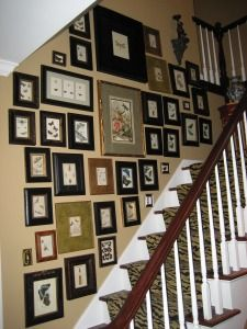 Picture Arrangement on the Foyer #home #ideas