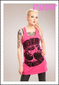 ce91da4cf1 Vixxsin Clothing Rockabilly Punk Tattoo Lady Cherry Cherries Pink Mini  Dress - Small Punk Tattoo