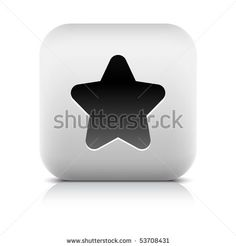 All web button this series internet icon http://www.shutterstock.com/sets/101711-stone-white-button.html?rid=498844 — Stone internet web button star symbol. White rounded square shape with shadow and reflection. White background — #Royalty #free #stock #vector #illustration for $0.28 per download