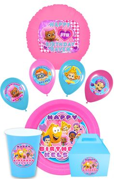 Bubble Guppies Party Pack Plate Stickers Cup Stickers by SDBDIRECT, $12.99
