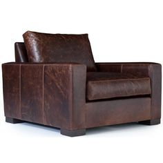 Oakville Leather Chair Front Room Organic Bohemian