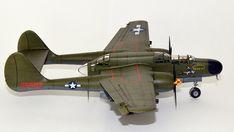 Hersteller: HobbyBoss| Sparte: Historische Flugzeuge | Katalog Nummer: 87261 - US P-61A Black Widow Maßstab: 1:72 | Einzelteile: 91 | Länge: 210mm | Spannweite: 279mm Black Widow, Scale Models, Airplane, Fighter Jets, Aircraft, World, Locomotive, World War Two, Catalog