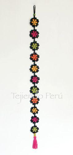 Crochet: flores granny paso a paso... adorno colagante!