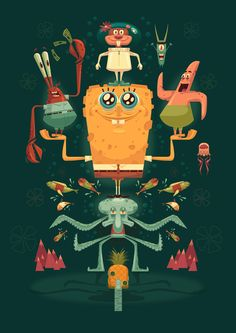 Nautical Nonsense: A Tribute to Spongebob Squarepants. | Illustrator: James Gilleard
