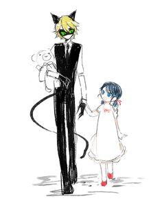 gamnamu: Miraculous ladybug AU Cat butler & Young lady YAAAAAAAAAAAAASSSSSSSSSSSSSSSTOO CUTE