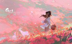 Artist: junc / wenjun lin More: Anime Art, Character Art, Illustration, Animation Art, Art, Environmental Art, Anime Artwork, Pretty Art, Aesthetic Art