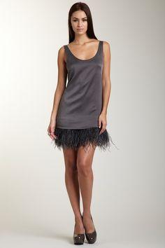 Feather fringe dress (Cynthia Vincent)