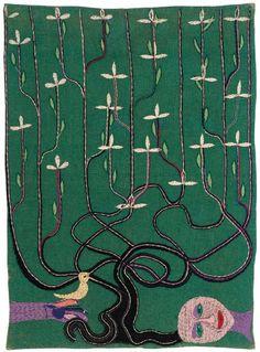 Árbol de la vida.  1963.  135 x 97,5 cm.   Violeta Parra.