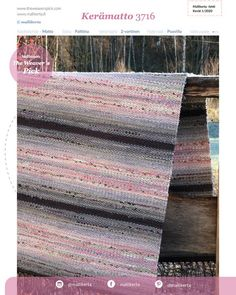 T3716Kerämatto Loom Knitting Patterns, Knitting Stitches, Hand Knitting, Stitch Patterns, Knitting Tutorials, Rag Rugs, Weaving Projects, Recycled Fabric, Garter Stitch