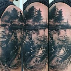 realistic pond tattoo - Google Search