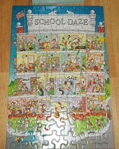 Vintage Springbok 100 Piece School Daze Jigsaw Puzzle PZL4728 by ShonnasVintage, $13.99
