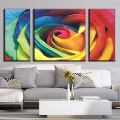 Abstract Rose with Colors Modern Art Paintings, Easy Paintings, Beautiful Paintings, Acrylic Painting Inspiration, Large Scale Art, Colorful Roses, Rose Art, Panel Art, Acrylic Art