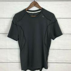fe3de62af Lululemon Men s Light As Air Tech Shirt Short Sleeve Size Medium M Dark Gray   fashion