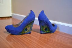 Royal Blue Peacock Wedges