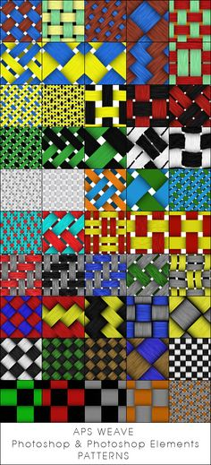 APS Weave Photoshop and Photoshop Elements patterns