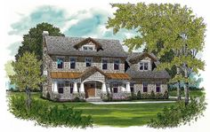 Shingle-Style Craftsman House Plan - 17773LV | Architectural Designs - House Plans