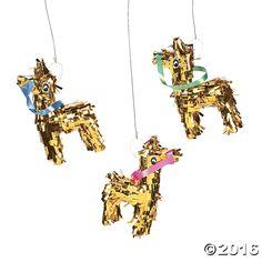Mini Gold Fringe Donkey Pi
