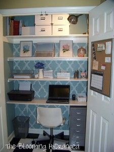Closet Office! How cool