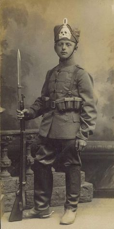 Dismounted Prussian Hussar, WW1